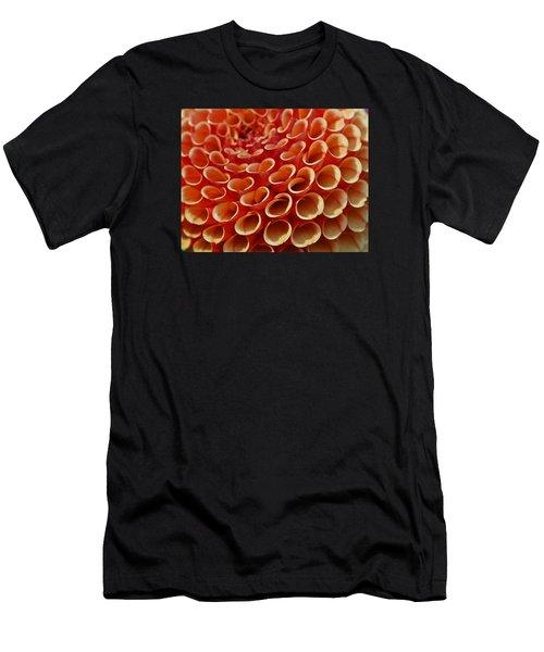 Orange Dahlia Crush Men's T-Shirt (Athletic Fit)