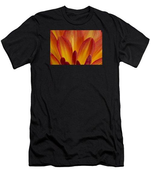 Orange Dahlia Petals Men's T-Shirt (Athletic Fit)