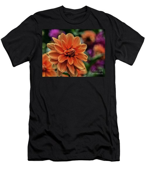 Orange Dahlias Men's T-Shirt (Slim Fit)