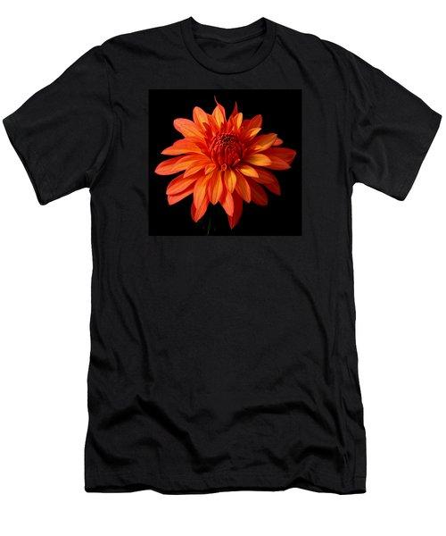 Orange Flame Men's T-Shirt (Athletic Fit)
