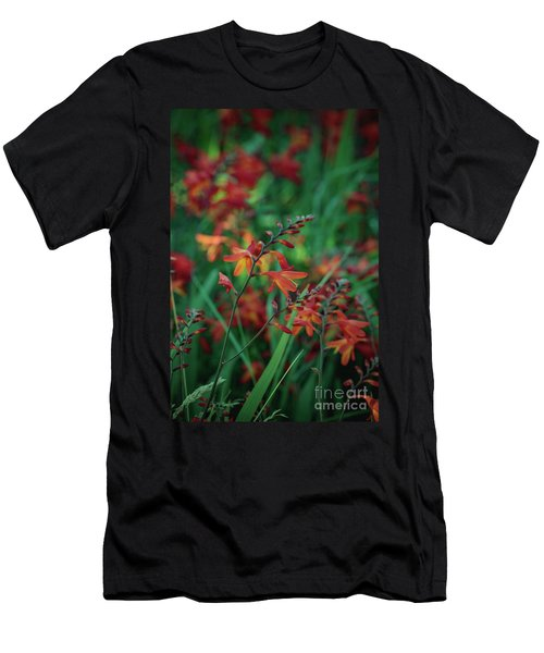 Orange Flowers 8 Men's T-Shirt (Athletic Fit)