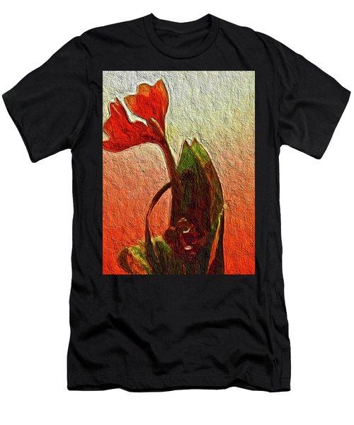 Orange Flowers Men's T-Shirt (Athletic Fit)