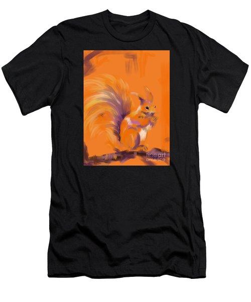 Orange Forest Squirrel Men's T-Shirt (Athletic Fit)