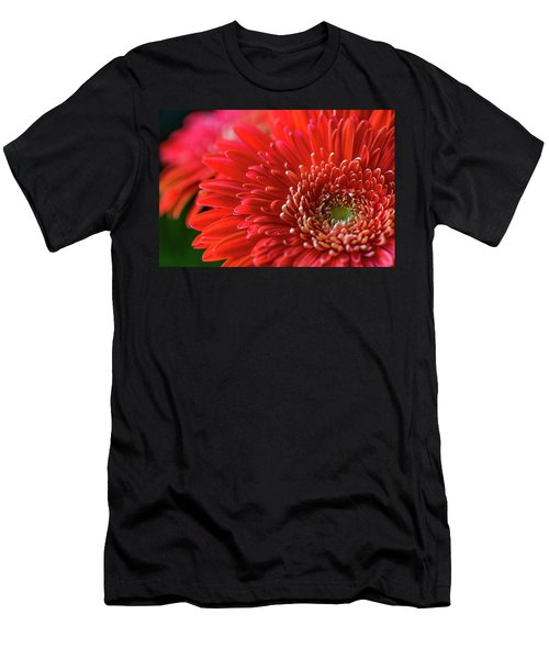 Men's T-Shirt (Athletic Fit) featuring the photograph Orange Gerbera by Clare Bambers