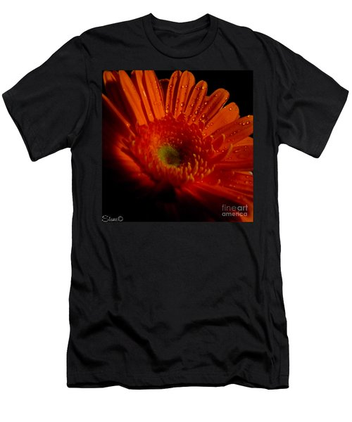 Orange Gerbera Men's T-Shirt (Athletic Fit)