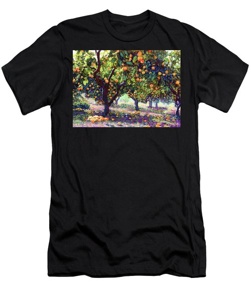 Orange Grove Of Citrus Fruit Trees Men's T-Shirt (Athletic Fit)