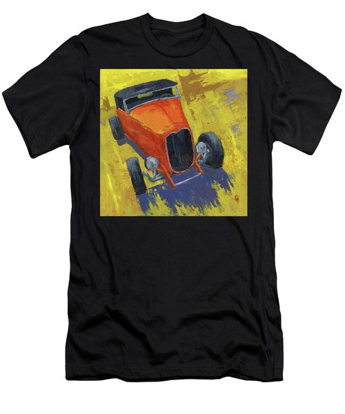 Orange Hot Rod Roadster Men's T-Shirt (Athletic Fit)