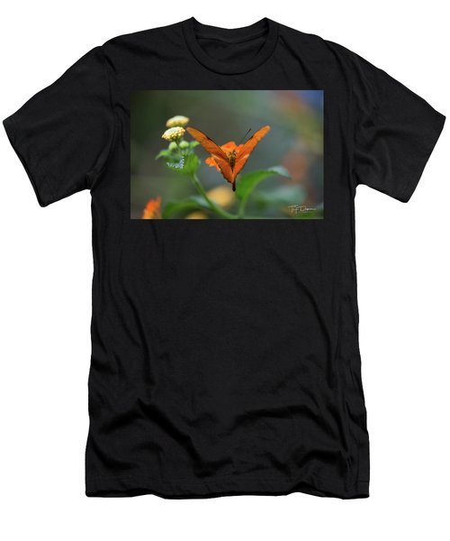 Orange Is The New Butterfly Men's T-Shirt (Athletic Fit)