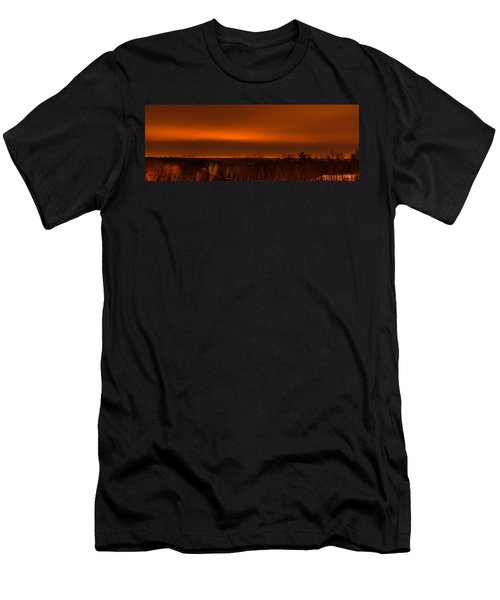 Orange Light Men's T-Shirt (Athletic Fit)