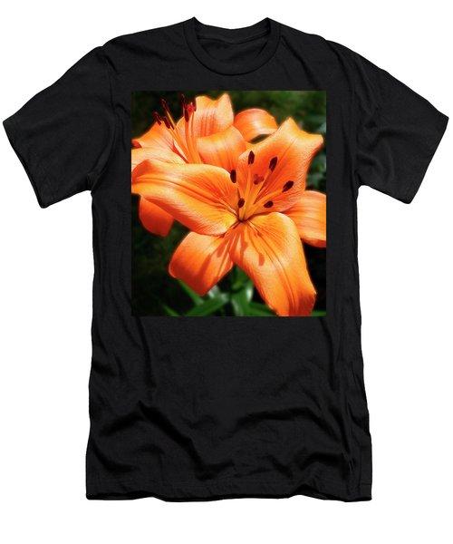 Orange Lily Joy Men's T-Shirt (Athletic Fit)