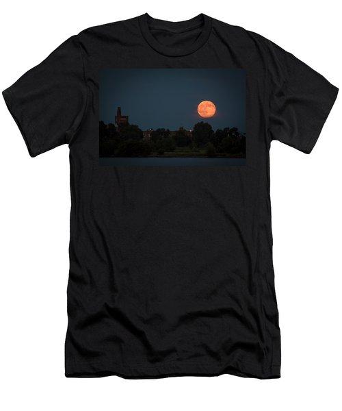 Orange Moon Men's T-Shirt (Athletic Fit)