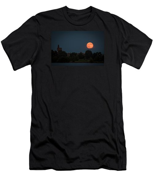 Orange Moon Men's T-Shirt (Athletic Fit)