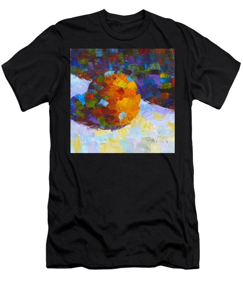 Orange Mosaic #3 Men's T-Shirt (Athletic Fit)