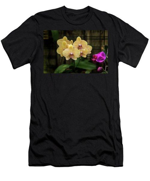 Orange Orchids Men's T-Shirt (Athletic Fit)