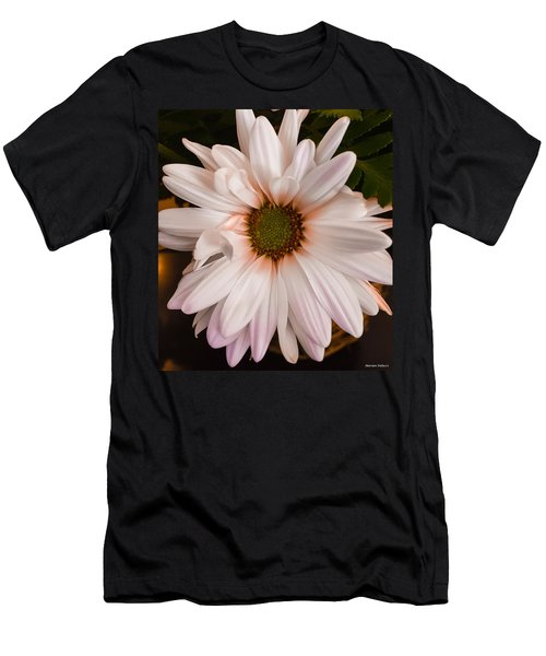 Orange Pastel Daisy Men's T-Shirt (Athletic Fit)