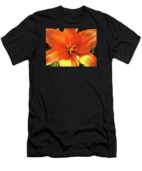 Orange Pop Men's T-Shirt (Athletic Fit)