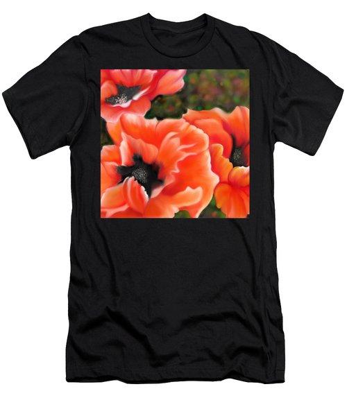 Orange Poppies Men's T-Shirt (Athletic Fit)