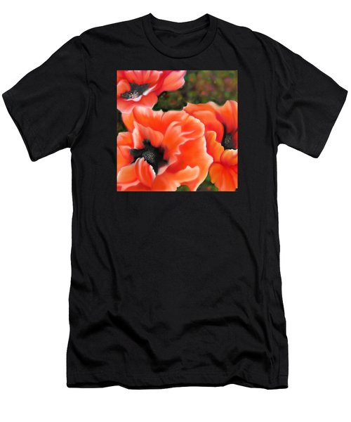 Orange Poppies Men's T-Shirt (Athletic Fit)