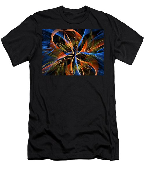 Orange Ribbons Men's T-Shirt (Athletic Fit)