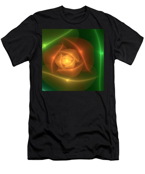 Men's T-Shirt (Slim Fit) featuring the digital art Orange Rose by Svetlana Nikolova