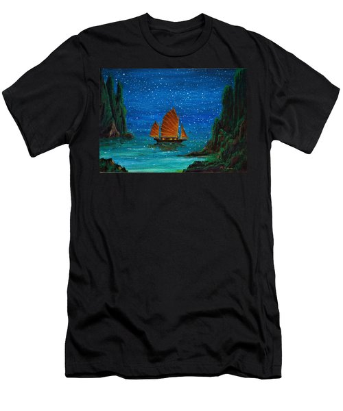Orange Sail Men's T-Shirt (Athletic Fit)