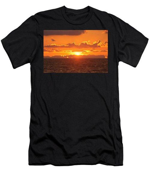 Orange Skies At Dawn Men's T-Shirt (Athletic Fit)