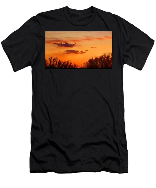 Orange Sky At Night Men's T-Shirt (Athletic Fit)