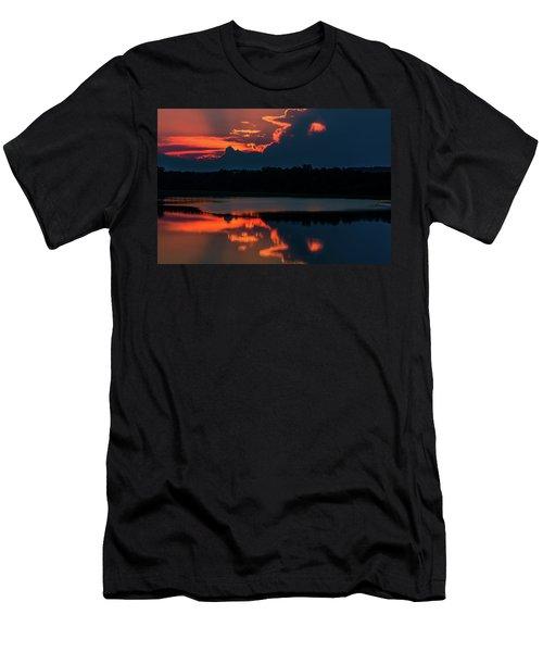 Orange Sky Men's T-Shirt (Athletic Fit)