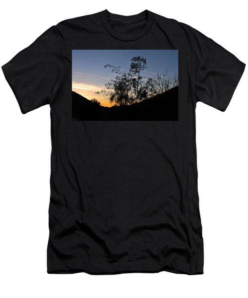 Orange Sky Nature Silhouette Men's T-Shirt (Athletic Fit)