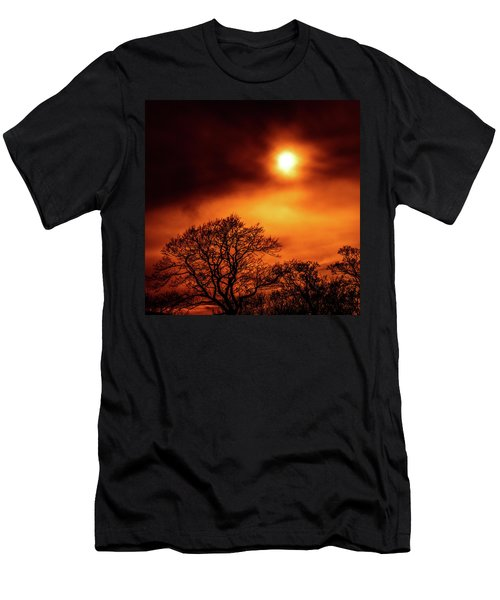 Men's T-Shirt (Athletic Fit) featuring the photograph Orange Sky by RKAB Works