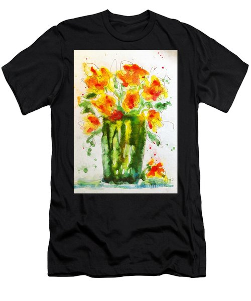 Men's T-Shirt (Athletic Fit) featuring the painting Orange Splendor by Claire Bull