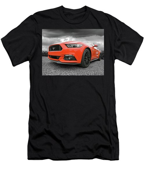 Men's T-Shirt (Slim Fit) featuring the photograph Orange Storm - Mustang Gt by Gill Billington