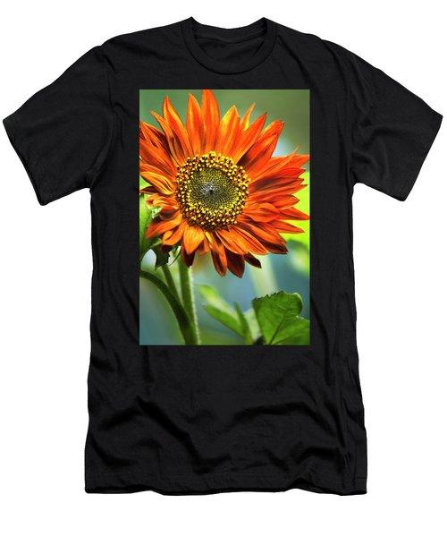 Orange Sunflower Men's T-Shirt (Athletic Fit)
