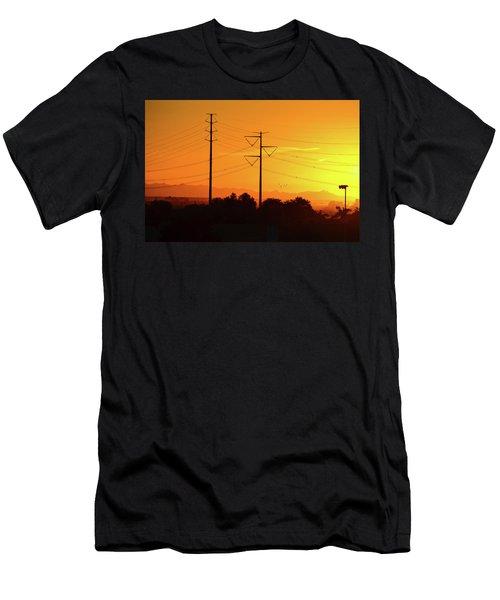 Orange Sunrise Men's T-Shirt (Athletic Fit)