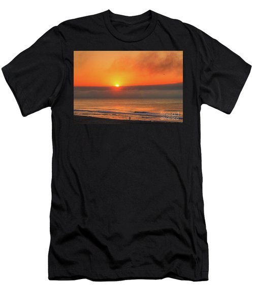Orange Sunrise On Long Beach Island Men's T-Shirt (Athletic Fit)