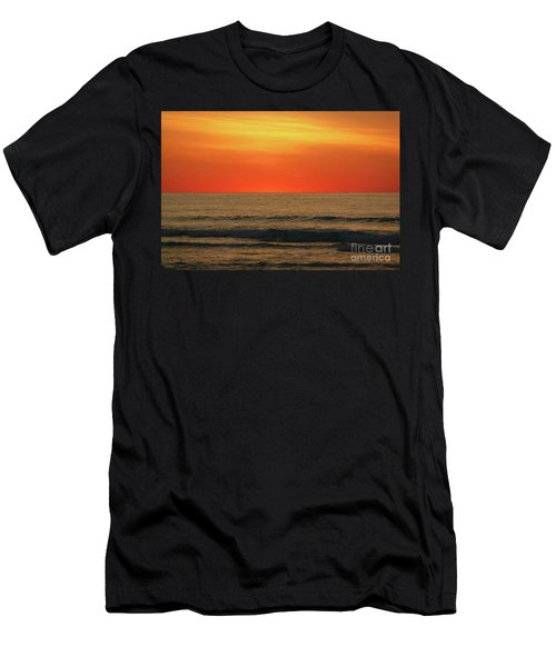 Orange Sunset On The Jersey Shore Men's T-Shirt (Athletic Fit)