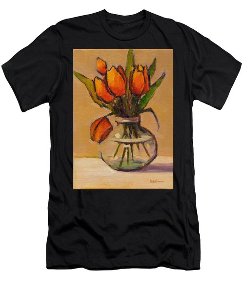 Orange Tulips Men's T-Shirt (Athletic Fit)
