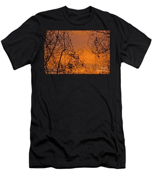 Orange Men's T-Shirt (Athletic Fit)
