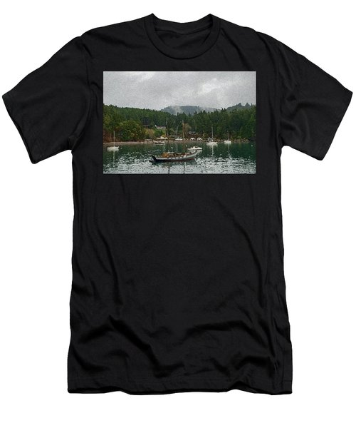 Orcas Island Digital Enhancement Men's T-Shirt (Athletic Fit)