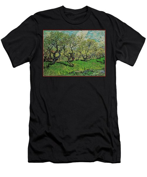 Orchard In Blossom Men's T-Shirt (Slim Fit) by Pemaro