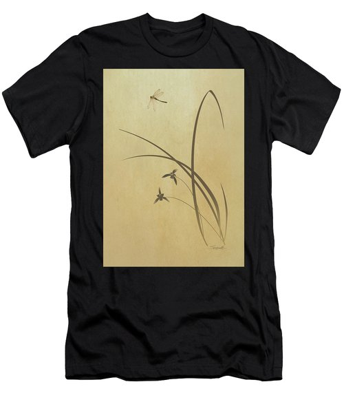 Orchid And Dragonfly Men's T-Shirt (Athletic Fit)