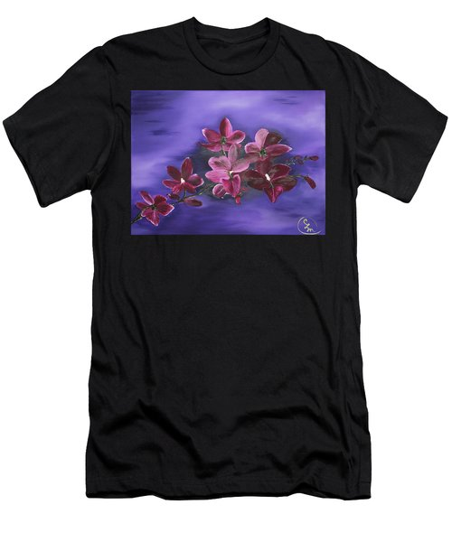 Orchid Blossoms On A Stem Men's T-Shirt (Athletic Fit)