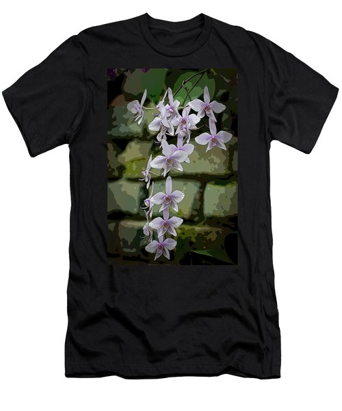 Orchid Waterfall Men's T-Shirt (Athletic Fit)