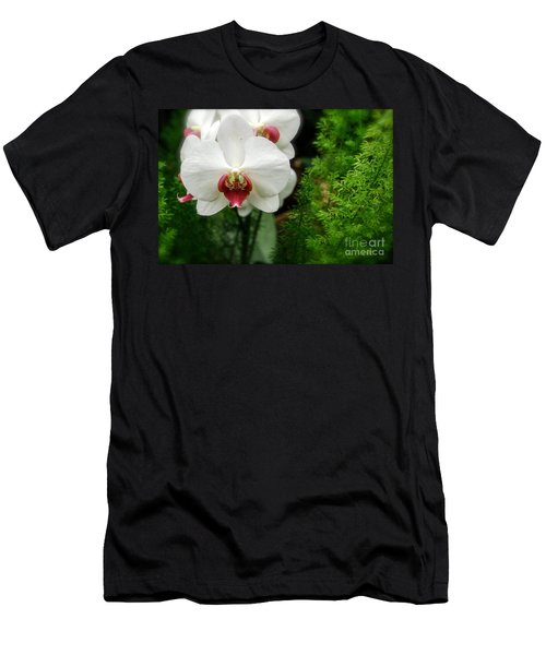 Orchid White Men's T-Shirt (Athletic Fit)