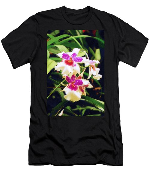 Men's T-Shirt (Slim Fit) featuring the painting Orchids 1 by Sandy MacGowan