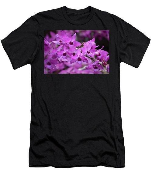 Orchids Paint Men's T-Shirt (Athletic Fit)