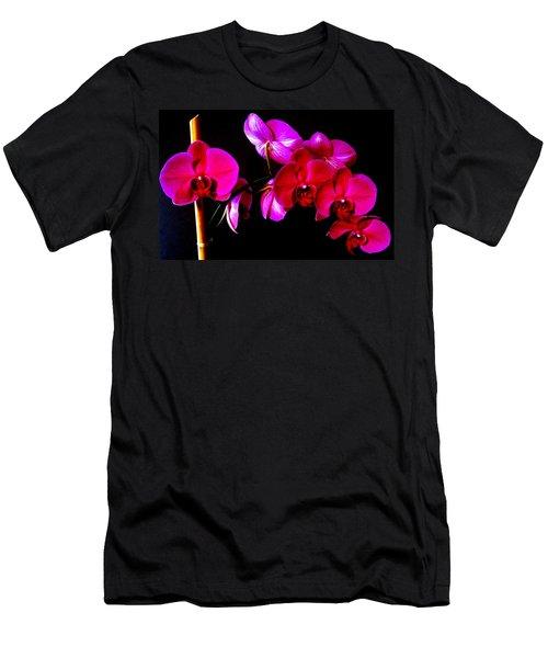 Orchids Men's T-Shirt (Slim Fit) by Ron Davidson