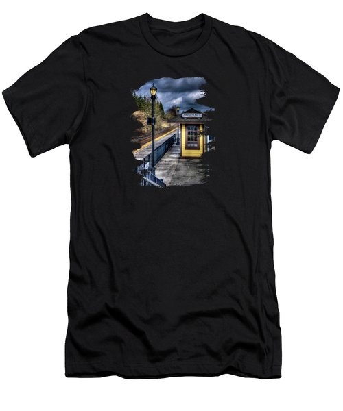 Oregon City Train Depot Men's T-Shirt (Slim Fit) by Thom Zehrfeld