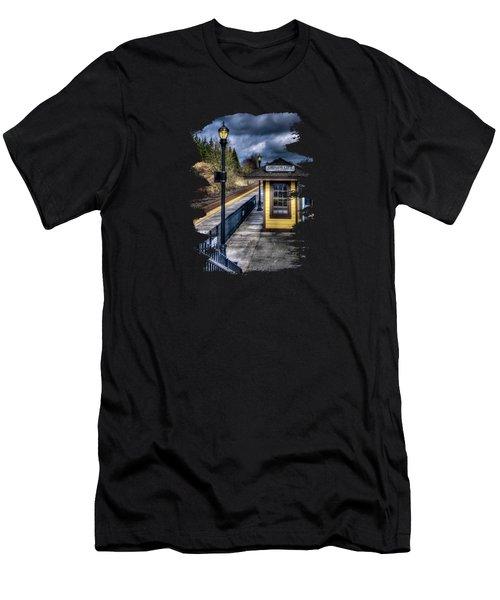 Oregon City Train Depot Men's T-Shirt (Athletic Fit)