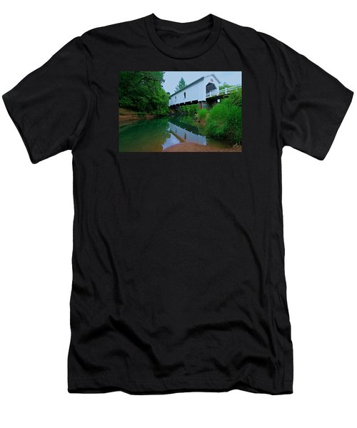 Men's T-Shirt (Athletic Fit) featuring the photograph Oregon Covered Bridge by Sean Sarsfield